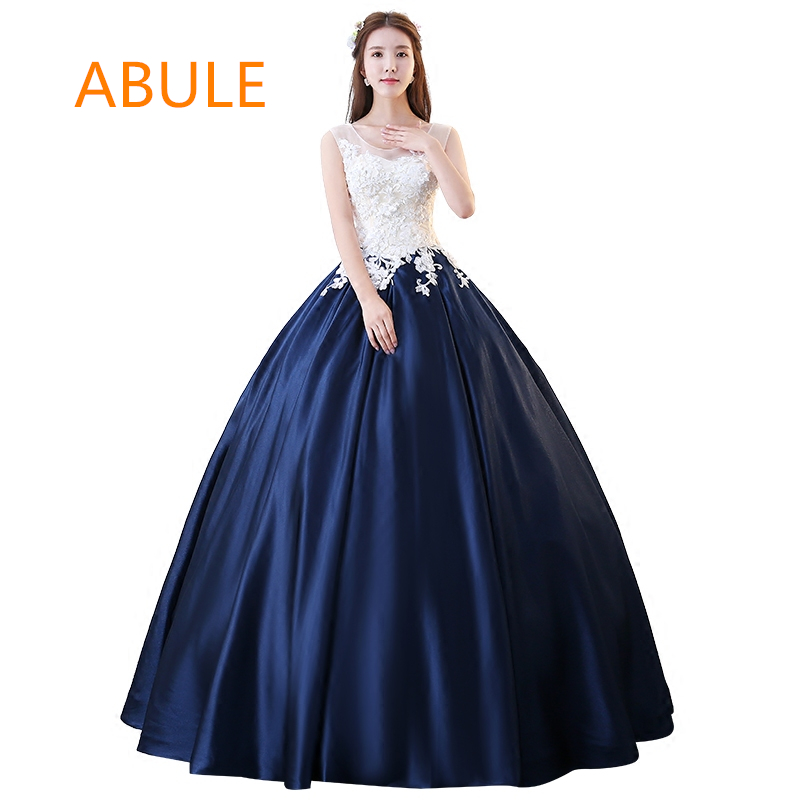 f972ceb3933f0 abule Quinceanera Dresses 2018 srtapless lace up blue ball gown prom ...