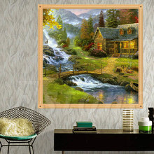 DIY 5D Small Bridge Diamonds Embroidery Painting Cross Stitch Kit Home Decor A21010