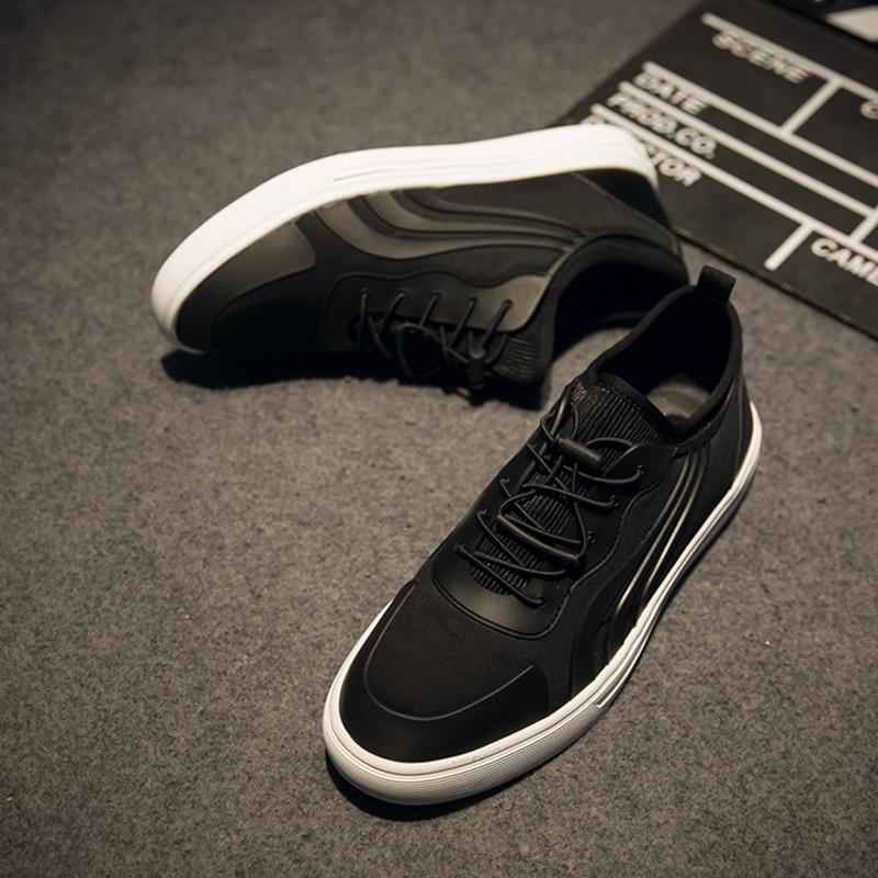 Sapatos Outono Preta Cor De Confortável Zapatillas Breathwable wearing Estilo Casuais Hombre Hard Primavera Black Mens qgwXFXd