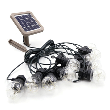 Philippe Vintage 10 Bulbs 9.4M Long Waterproof Automatic Solar String Light for Xmas Home Garden Outdoor Use