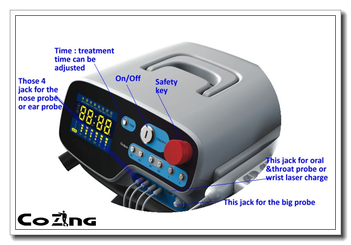 High quality knee pain relief laser device with low level laser therapy 5 probes into 1 device lcd laser cold therpy watch hemodynamic metabolic soft laser therapy bio light therapy high blood pressure
