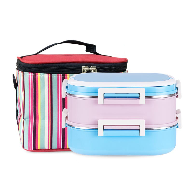 2 4 Layer Leakproof 304 Stainless Steel Lunch Box Insulation Thermos Japanese Style Bento Box Kids Metal Food Container Portable