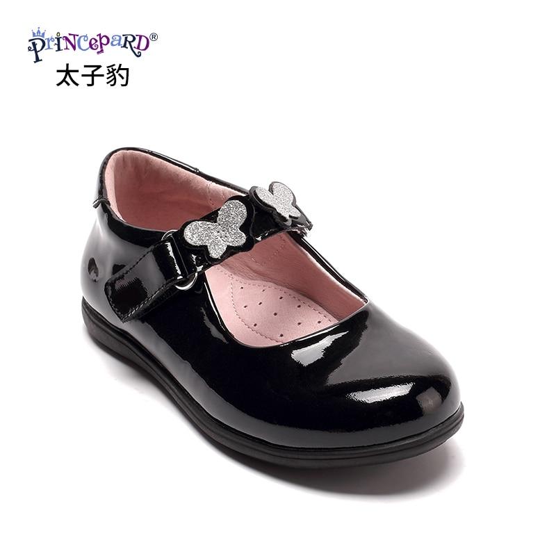 Princepard Girls Leather Oxford Black School Uniform Outdoor Dress Mary Jane Shoe Toddler Little Kid Big Kid sutudent shoes