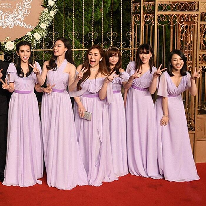 Vistoso Largos Vestidos De Las Damas De Color Púrpura Patrón - Ideas ...
