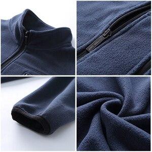 Image 5 - פיוניר מחנה חדש חורף עבה רוכסן סווטשירט גברים מותג בגדי מוצק צמר חם אימונית זכר ירוק כחול שחור AJK702388