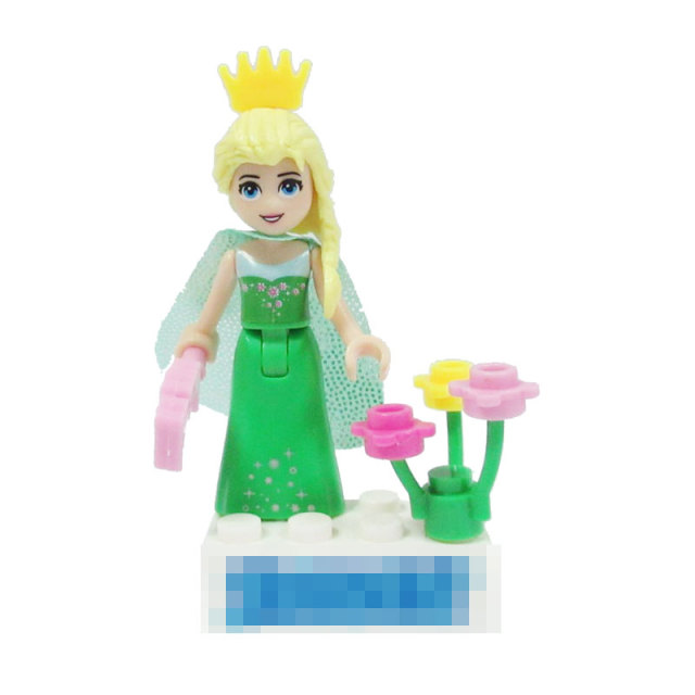 Figurine Legoings Princess Prince Anna Elsa Mermaid Cinderella Rapunzel Belle Snow White Ice Queen Figurines Toys for Children