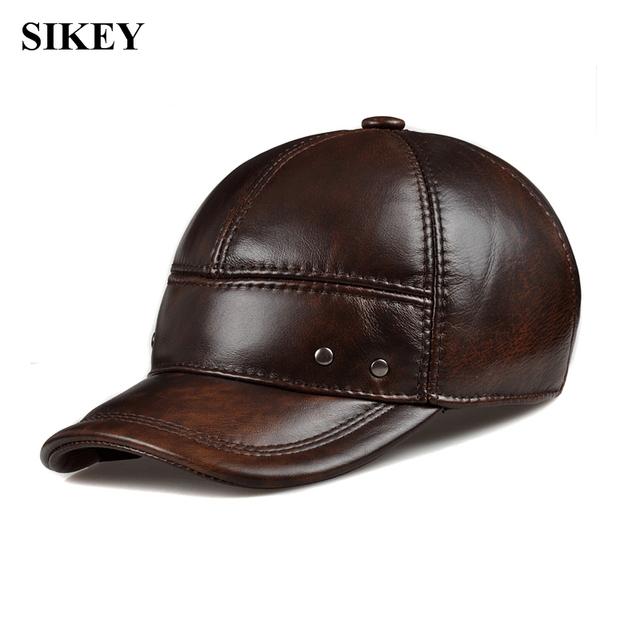 HL102 genuíno CBD boné de beisebol do chapéu de couro dos homens de alta qualidade de couro real dos homens sólida adulto chapéus ajustáveis caps