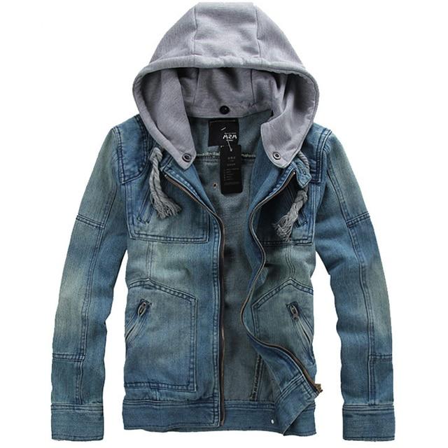 Korea Style Thicken Cotton Jeans Jacket Men S Plus 5xl Blue Denim