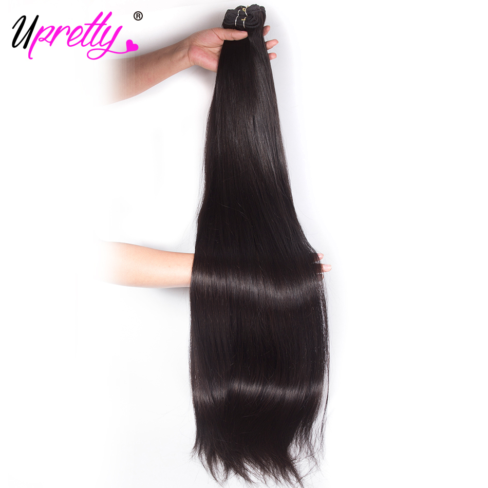 Upretty Hair 28 inch 30 32 34 36 38 40 inch Bundles Virgin Human Hair Extensions Straigh ...