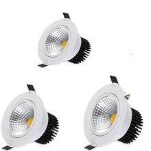 Светодиодный светильник с регулируемой яркостью AC110V 220V 5 W/7 W/10 W/12 W Встраиваемый светодиодный точечный светильник, светящийся потолочный светильник для помещений