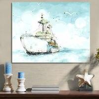 Поделки цифровой живописи Blue Sea Цифровой краска по номерам корабль цифровой Краска по номерам подарок для детей раскраски по номерам