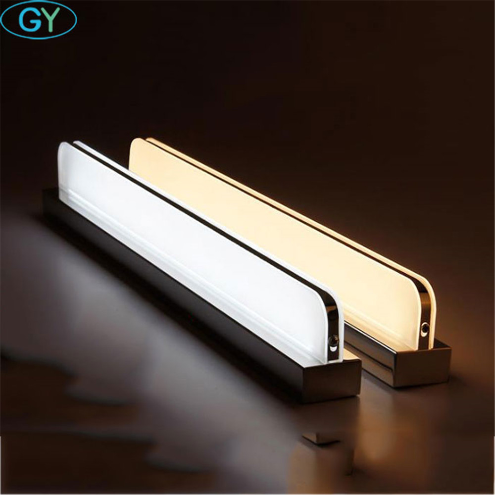 L23cm To L110cm L120cm Modern Led Mirror Light AC90-260V Wall Mounted Industrial Wall Lamp Bathroom Washroom Led Wall Lamp