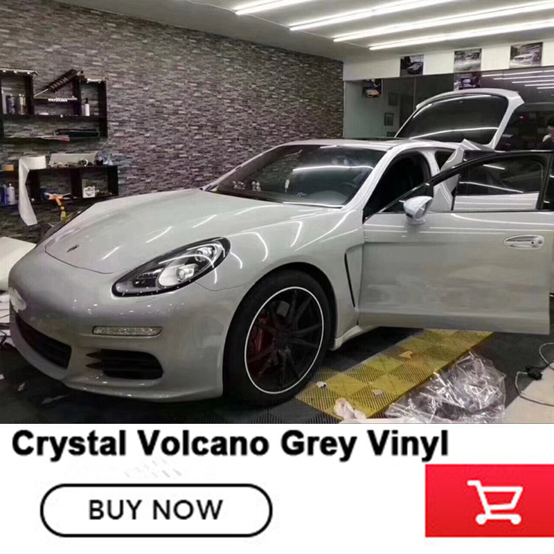цена на Super Gloss Grey Vinyl Wrap Film With 3 Layer Gloss Volcano grey Car Wraps Covering Style Fame Will Size 1.52*20M/Roll