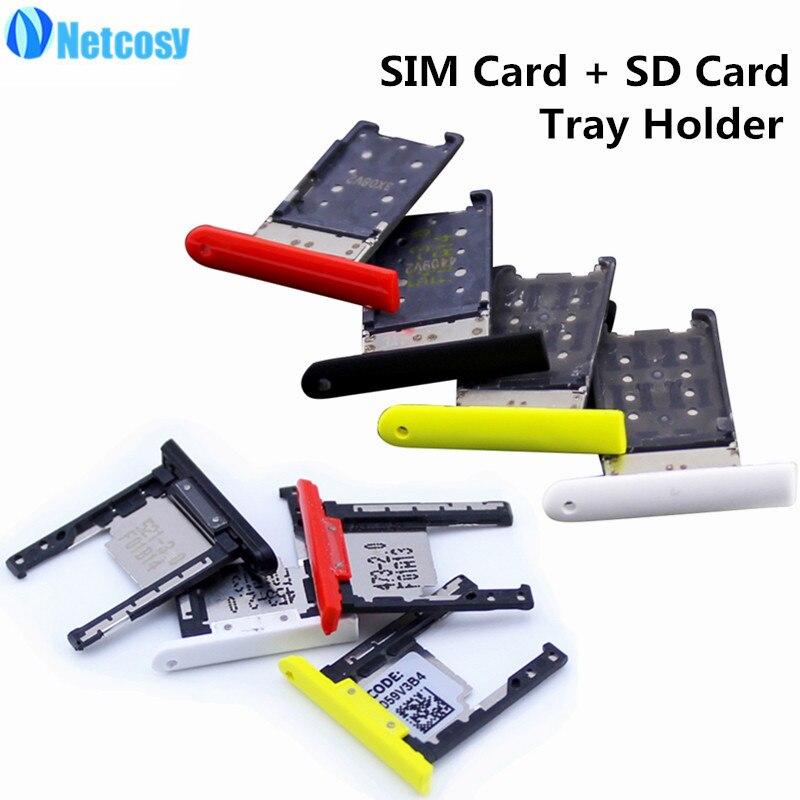 Netcosy cartão sim + bandeja de cartão sd slot titular para nokia lumia 1520 peças reposição reparação alta qualidade telefones acessórios