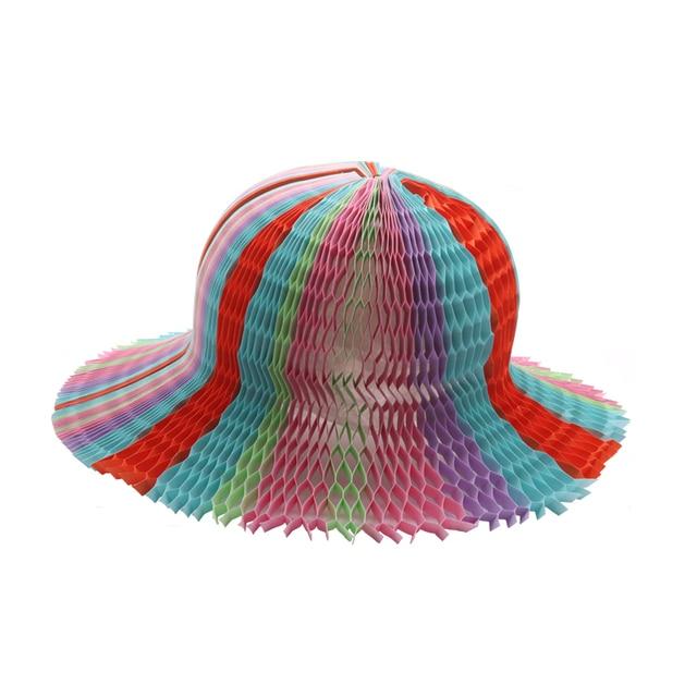 Magic Vase Paper Hats Handmade Folding Hat for Party Decorations Funny  Paper Caps Travel Sun Hats 6b8a3f90d3c