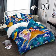 Dreamlike Aries Constellation Bedding Set Kids Colorful Cartoon Duvet Cover Galaxy King Queen Pillowcase