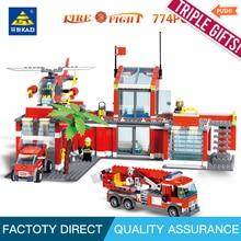 hot deal buy kazi blocks fire series  building blocks education building blocks toy for children intelligence toys fancy toy compatible leg o
