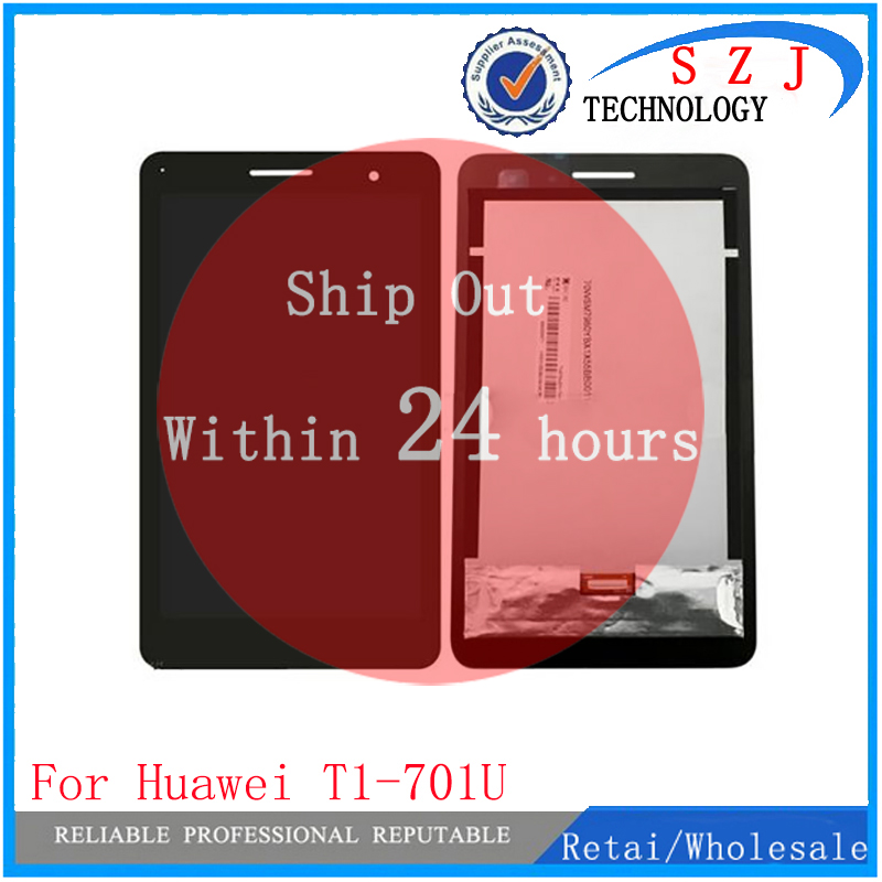 New 7'' inch For Huawei Honor Play Mediapad T1-701 T1 701U T1-701U LCD Display Touch Screen Panel Digitizer free shipping for huawei mate 7 lcd display and touch screen with frame assembly black stock for huawei mate 7 smart phone free shipping