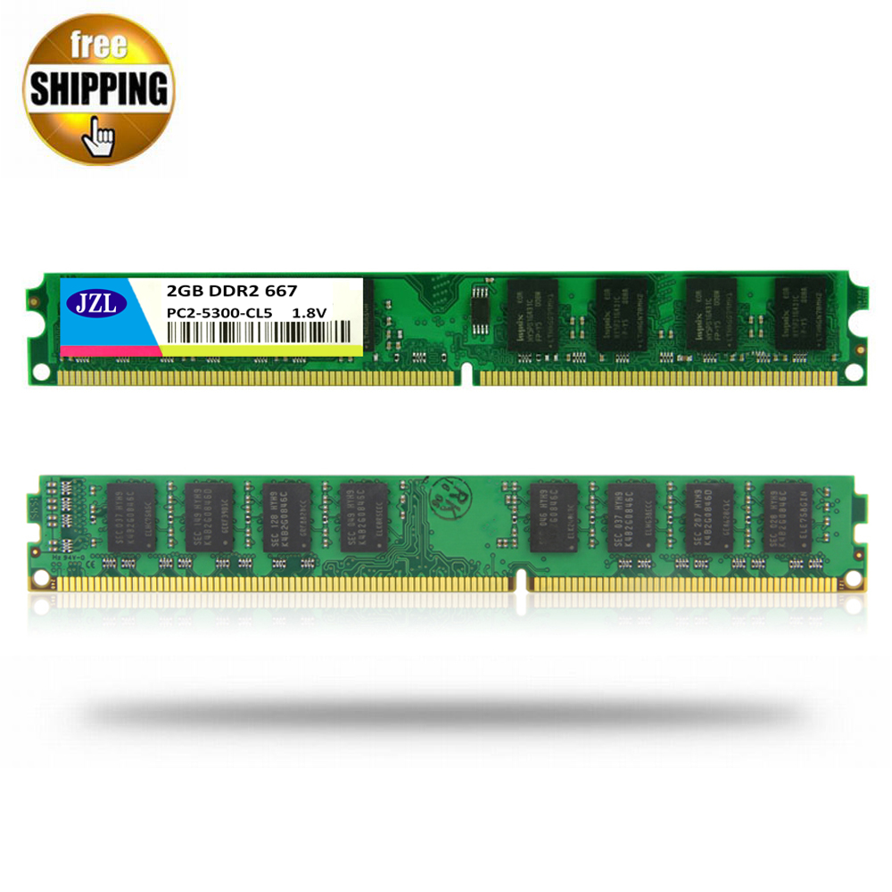 JZL Memoria PC2-5300 DDR2 667MHz / PC2 5300 <font><b>DDR</b></font> <font><b>2</b></font> 667 MHz <font><b>2GB</b></font> LC5 240PIN Desktop PC Computer DIMM Memory <font><b>RAM</b></font> Only For AMD CPU image