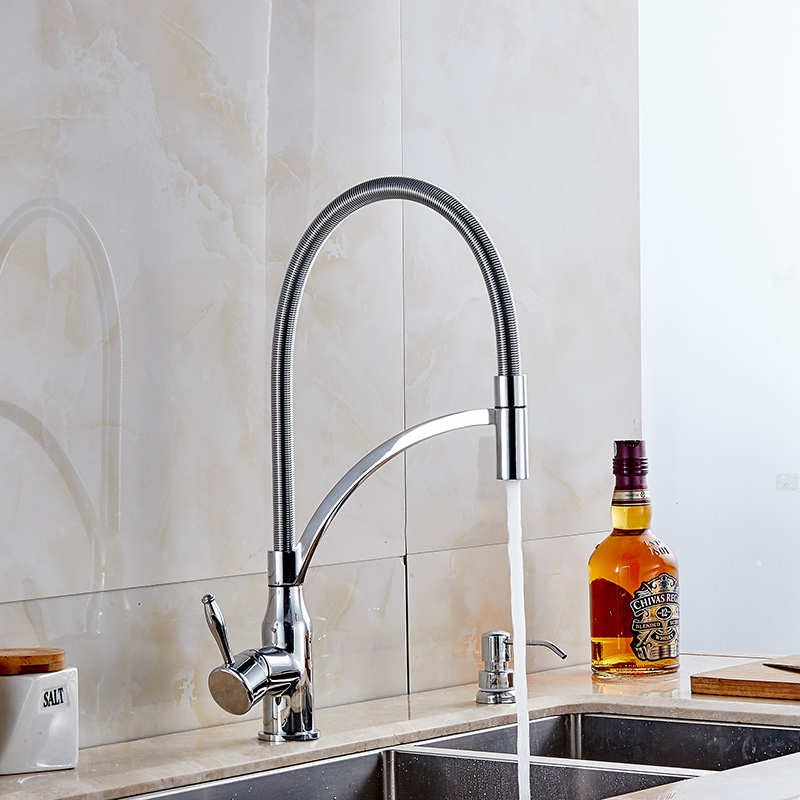 Chrome Kitchen Faucet Pull Out&Down Dual Spray Hot&Cold Kitchen S Mixer Tap Kitchen Accessories Water Faucet Tap new arrival tall bathroom sink faucet mixer cold and hot kitchen tap single hole water tap kitchen faucet torneira cozinha