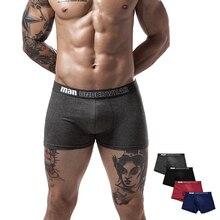 boxer mens underwear cotton underpants male  men shorts authentic solid