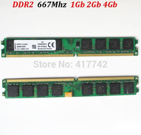 Memoria RAM 1Gb 2Gb DDR2 667 (para AMD y todos) PC de escritorio 5300 ** DDR 2 667Mhz 2 Gb 1 Gb - garantía de por vida - buena calidad