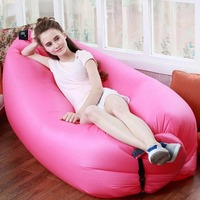 Outdoor Lazy Person Fast Folding 190D Oxford Cloth Camping Sleeping Inflatable Sofa Sleep Air Bed Lounger