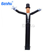 AD076 BENAO Free shipping+blower hot air balloon inflatable,gentleman inflatable air dancers,china inflatable sky man