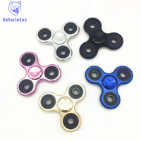 Tri Spinner Fidget Toy Brushed Plating Aluminum Alloy EDC Hand Spinner For Autism And Rotation