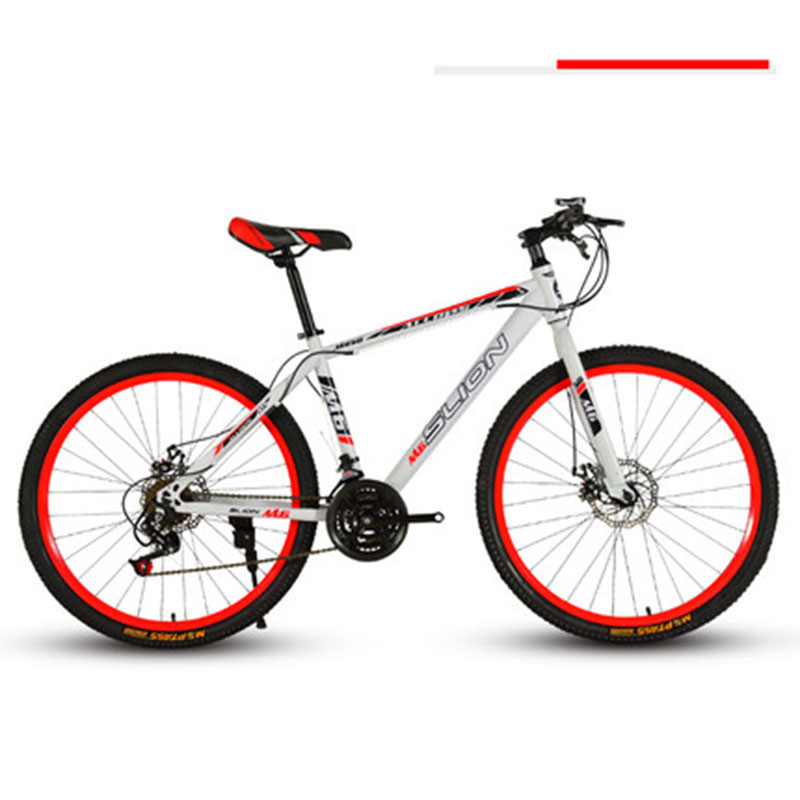 Mountain Bike Male 26 Inch Adult 27 Variable Speed Integral Wheel Double Disc Brake Racing Cross Country Bicycle