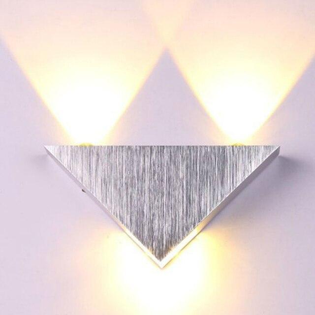 3 watt Aluminium Wand Licht Leuchte Dreieck Warm Weiß/Kalt Weiß ...