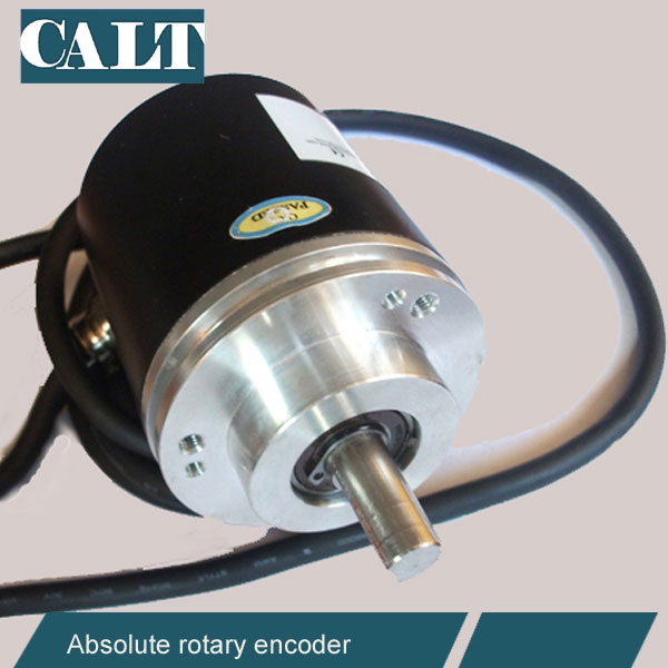 CALT clamping flange rotary absolute encoder rs485 opto absolute angle encoder speed sensors 4096 resolution calt mini ssi absolute rotary encoder 12