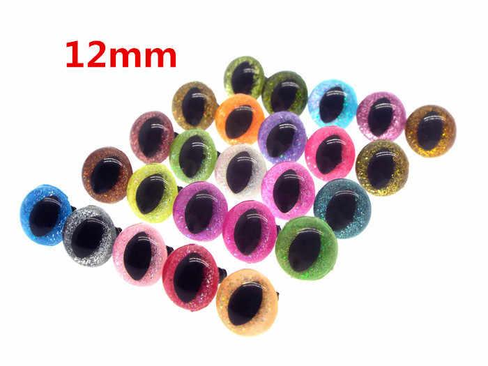 10 pairs 7.5mm Black craft safety eyes  amigurumi  animal  plastic