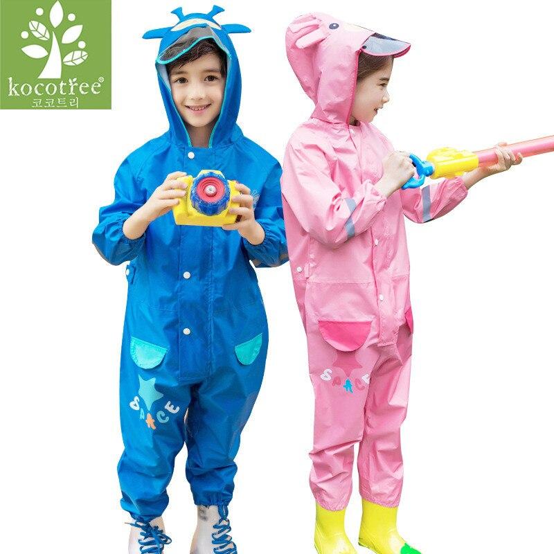 cf296cb11 Online Shop 3-8 Years Old Kids Cartoon Waterproof Jumpsuit Raincoat ...