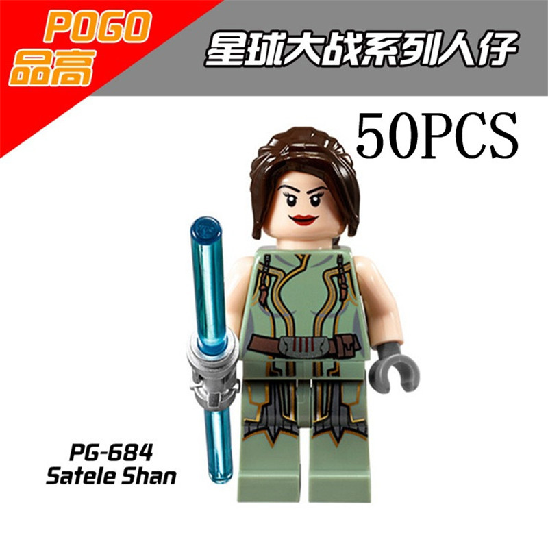 gifts Star Wars Pogo XINH Wholesales PG684 Satele Shan 50PCS Building Blocks Bricks Toys Action Figures compatible legoe