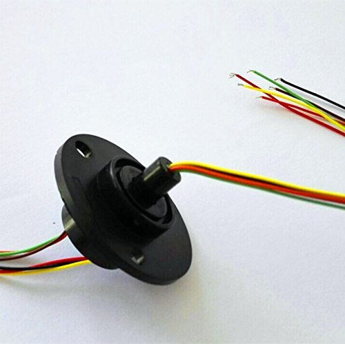 DHL FEDEX FREE Ship Wholesale 6 Circuits 2A Capsule Slip Ring 6 Conductors rotary electrical collector 10Pcs/lot