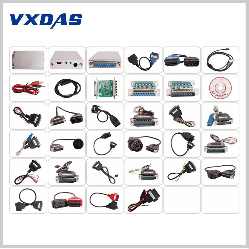 ФОТО Universal Carprog V9.31 Programmer For Car Radios Odometers Dashboards Immobilizers Car Prog Diagnostic Tool Full Adapters