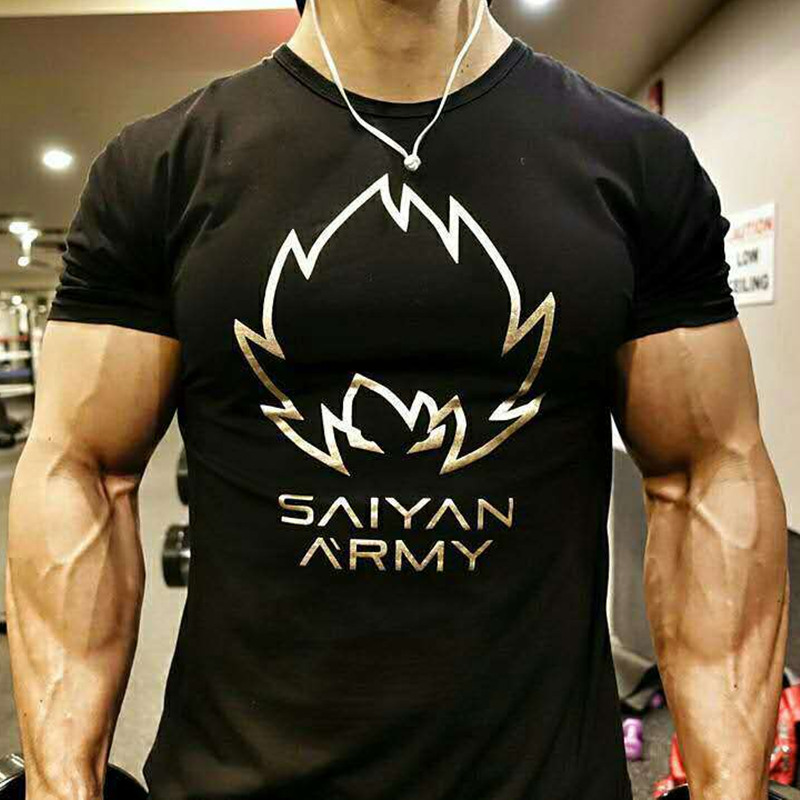 Men Running Breathable Cotton t shirt Gym Fitness Workout Training Short sleeve T-shirts Male Jogging Slim Tee Tops Man Clothing fashion long sleeve o neck t shirt 2017 new arrival men t shirts tops tees men s cotton t shirts 3colors men t shirts m xxl