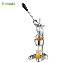 лучшая цена FREE SHIPPING 100% Stainless Steel manual hand press juicer squeezer citrus lemon fruit juice extractor commercial or household
