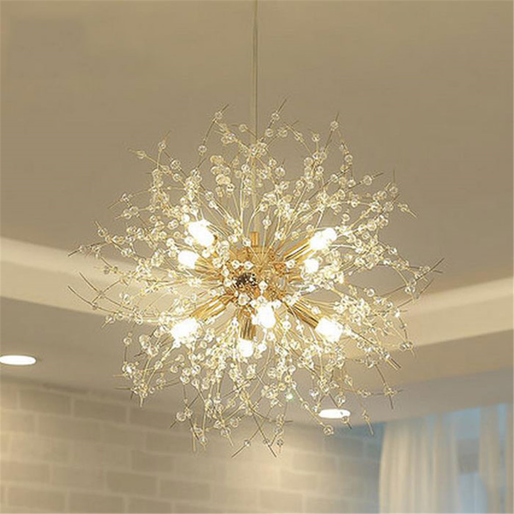 modern k9 crystal chandelier chandelier g9 led dandelion lights lustre spider. Black Bedroom Furniture Sets. Home Design Ideas