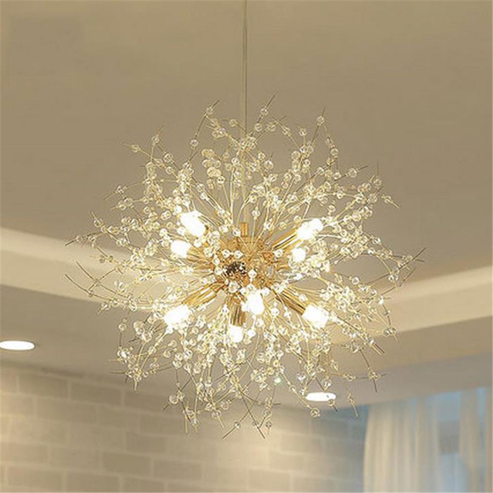 Moderne K9 Kristall Kronleuchter G9 LED Lwenzahn Lichter Glanz Spinne Wohnzimmer Indoor Dekorative Deckenleuchte Baum