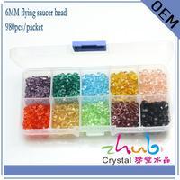 Cristal Rhinestone Rondelle Spacer Beads Atacado Joyas y Accesorios bigiotteria cristallo Cristal Rondelle 6mm Grânulos De Cristal