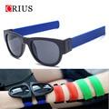 2017 new colorful fashion women's sunglasses men sun glasses foldable glasses hand ring sport oculos de sol feminino Designer