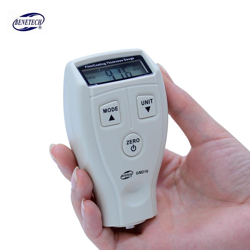Digital BENETECH GM210 0-1800um Mini Paint film iron base thickness gauge Galvanized thickness measurement
