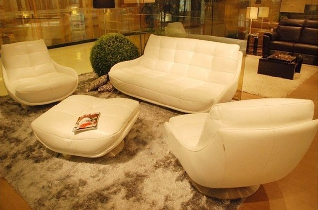 Free Shipping Luxury Pearlescent Genuine leather Sofa filled with feather down sofa,confortable top grain leather sofa  E358