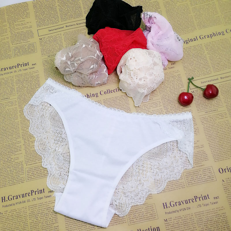 Sexy Pant Gauze Underwear Lace Perspective Women Sexy Lingerie Women Lace Pants Exposed Female G-string 1pcs Ah74