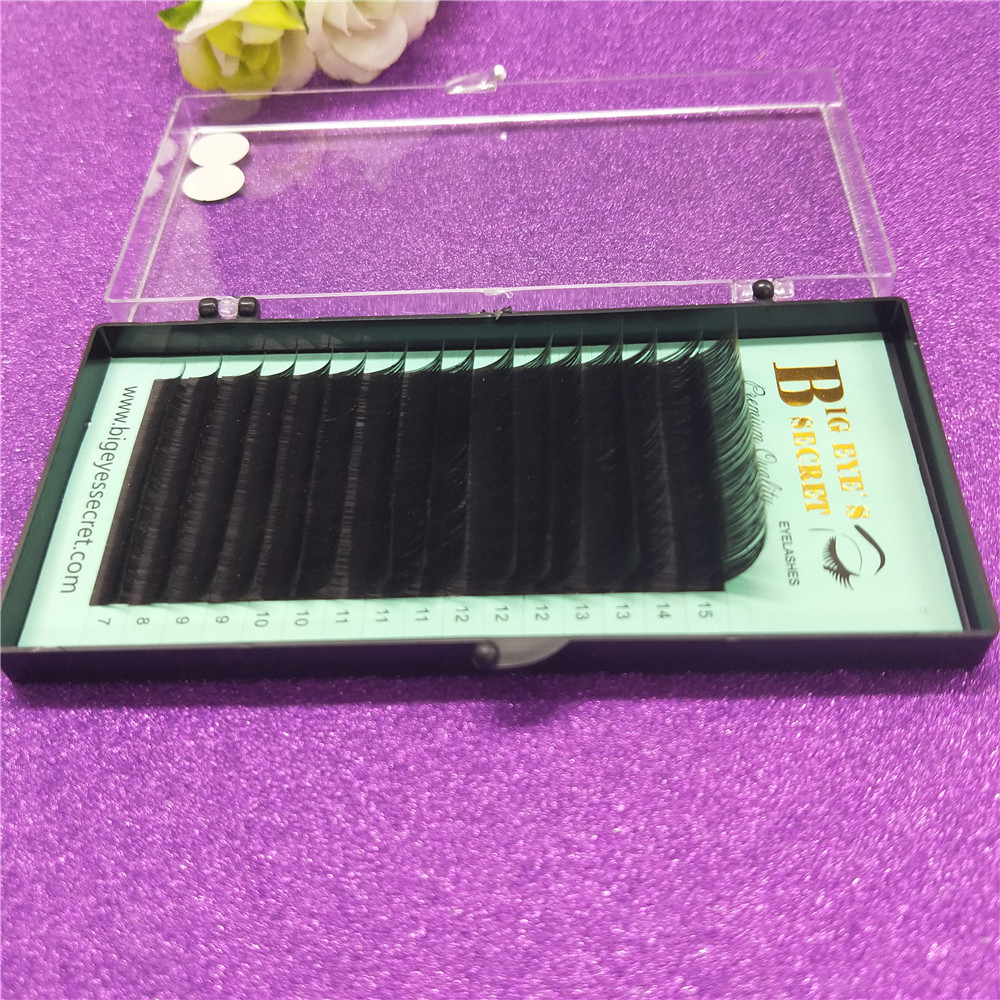 Promotions price mix 7-15mm high quality synthetic mink natural mink False eyelash individual eyelash extension free shipping