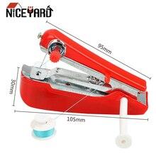 NICEYARD ручное управление портативная мини-швейная машина креативные простые швейные инструменты домашняя дорожная маленькая вышивка случайный цвет