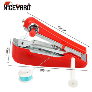 NICEYARD Manual Operation Portable Mini Sewing Machine Creative Simple Sewing Tools Home Travel Small Embroidery Random Color(China)