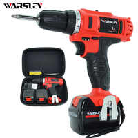 21V Cordless Electric Screwdriver Drill 2 Battery Screwdriver Power Tools Mini Drill Power Tools